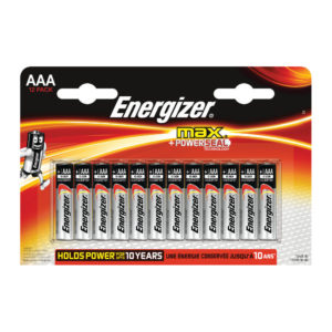ENERGIZER MAX E92 AAA BATTERY PK 12