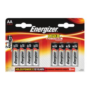 ENERGIZER MAX E92 AA BATTERY PK 8