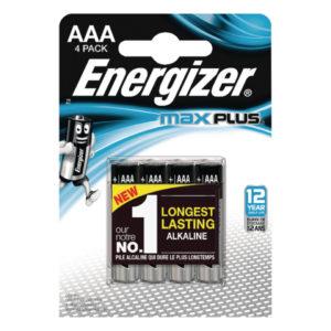 ENERGIZER MAX PLUS AAA BATTERIES PK4