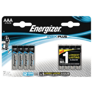 ENERGIZER MAX PLUS AAA BATTERIES PK8