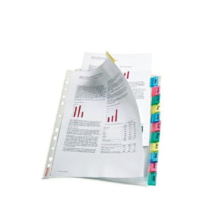 ESSELTE INDEX POCKETS 12 TABS AST 414170