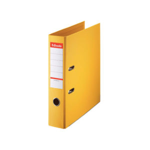 ESSELTE A4 PVC LEVER ARCH 75MM YELLOW