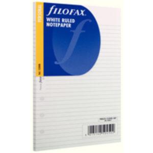 FILOFAX PERSONAL WHITE RULED SHTS 133008