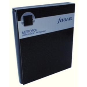 FILOFAX A4 METROPOL ORGANISER BLACK