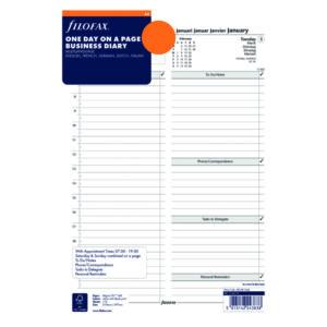 FILOFAX REFILL DAY PER PAGE A4 2021