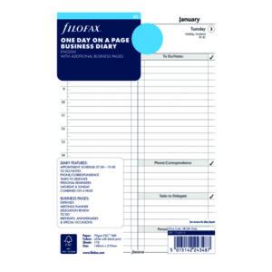 FILOFAX REFILL DAY PER PAGE A5 2021