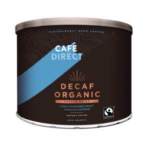 CAFEDIRECT DECAF ORGANIC COFFEE TIN 500G