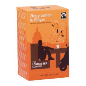 LONDON TEA COMPANY LEMON GINGER TEA PK20