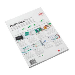 GBC GLOSS PEEL/STICK A4 200MIC POUCHES