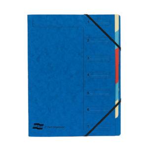EUROPA 7 PART ORGANISER BLUE 54072E72E