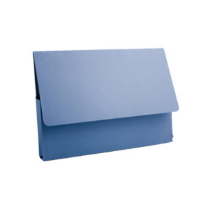 GUILDHALL DOCUMENT WALLET A4 BLUE