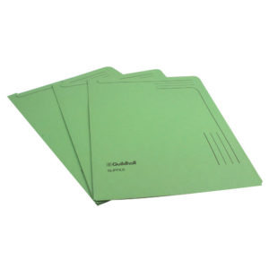 GUILDHALL SLIPFILE 12.5X9IN GREEN 14603