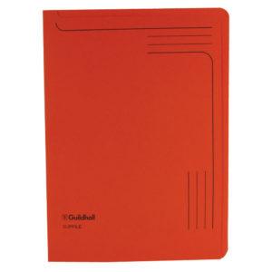 GUILDHALL SLIPFILE 12.5X9IN ORANGE 14607