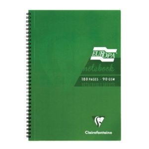 EUROPA A4 NOTEBOOK GREEN 5800Z