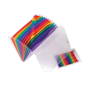 EUROPA 13 POCKET EXPANDING FILE ASSORTED