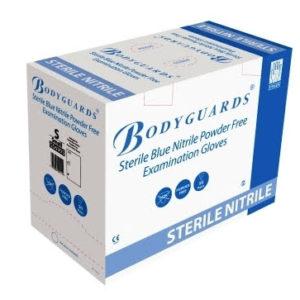Handsafe Nitrile Sterile Blue PF Gloves-Large x 50