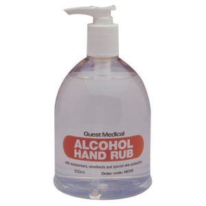 Guest Medical Alcohol Hand Rub with Pump - 500ml