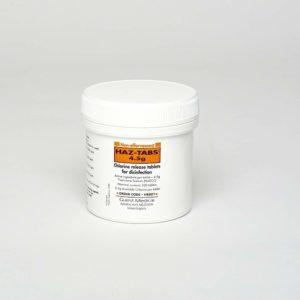 Haz-Tabs 4.5g in tubs of 100 tablets