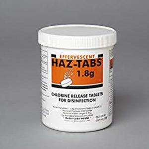 Haz-Tabs 1.8g  in tubs of 200 tablets