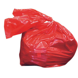 LAUNDRY SOLUBLE STRIP BAGS RED 50 LITRE