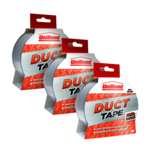 UNIBOND TAPE 50MMX25M SILVER 3 FOR 2