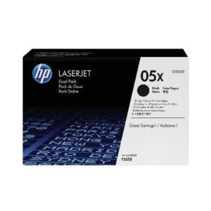 HP 05X 2PK HY BLK ORGL LJET TONER CARTS