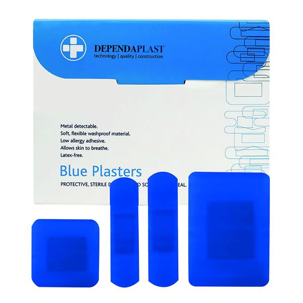 RELIANCE ASTD PLASTERS BLUE PK100