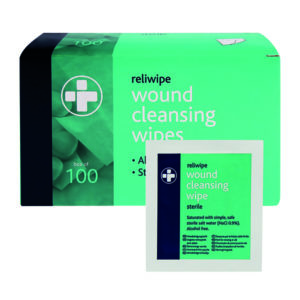RELIANCE STERILE C/WIPES PK100