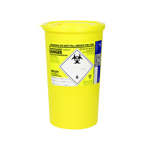 RELIANCE SHARPS CONTAINER 5LTR