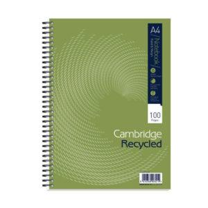 CAMBRIDG RECYC A4 WIREBOUND NBK 100 PAGE