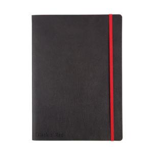 BLACK N RED SOFT B5 NOTEBOOOK BLACK