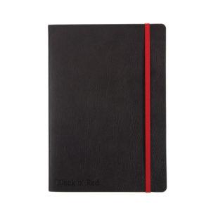BLACK N RED SOFT A5 NOTEBOOK BLACK