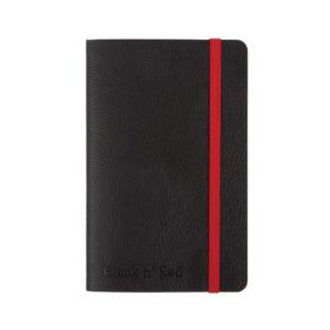 BLACK N RED SOFT A6 NOTEBOOK BLACK