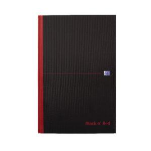 BLACK N RED CASEBOUND NOTEBOOK B5