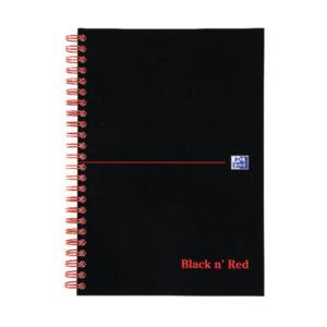 BLACK N RED B5 WIREBOUND NOTEBOOK PK5