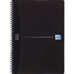 OXFORD OFF SMART A4 WIRNBK SOFT COVER BK