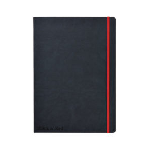 BLK N RED HARD COVER BLACK A4 NOTEBOOK