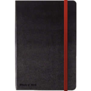 BLK N RED HARD COVER BLACK A5 NOTEBOOK