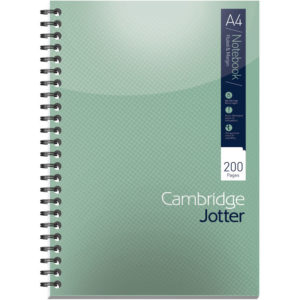 CAMBRIDGE JOTTER NOTEBOOK A4 200 PAGES