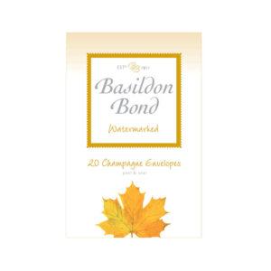 BASILDON BOND ENV SMALL CHAMPAGNE PK20