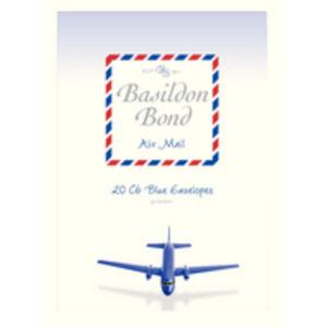 BASILDON BOND AIRMAIL ENVELOPE BLUE PK20