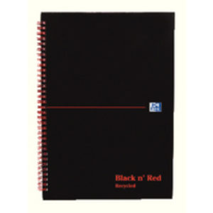 BLK N RED WIRNBK A5 140 PAGES FT RCYC