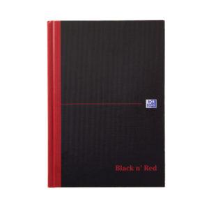 BLK N RED MANUBK A5 SNGL CASH 100080414