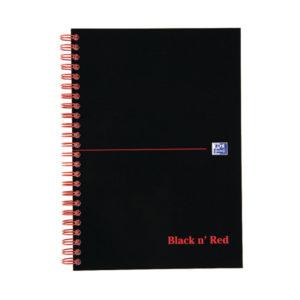 BLACK N RED NOTEBOOK A5 FEINT D66369