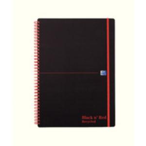 BLACK N RED A4 RECY POLY  W/BND NOTEBK