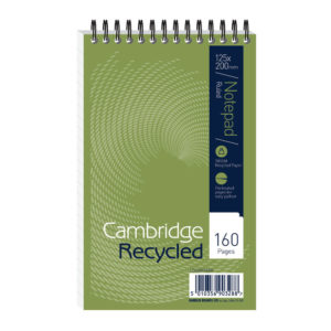 RECYCLED SPIRAL NOTEBOOK 125X200 F15002