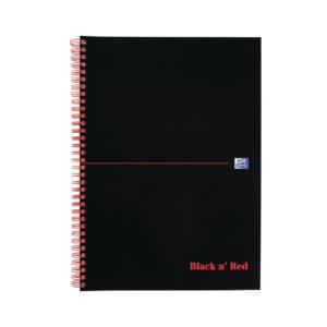 BLACK N RED NOTEBOOK A4 RULED FEINT