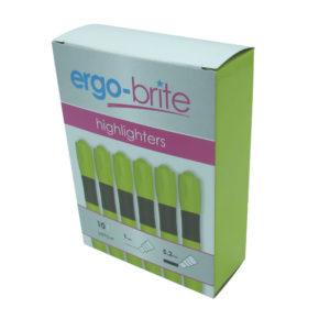 ERGO-BRITE HIGHLIGHTERS YELLOW