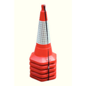 75CM/30IN STD ONE PIECE CONE PK5 RED