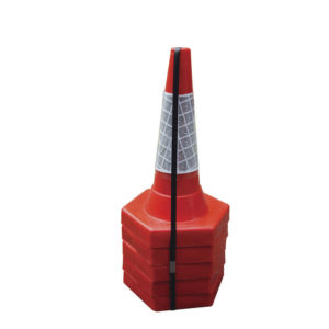 50CM SAND WEIGHTED CONES PK5 RED